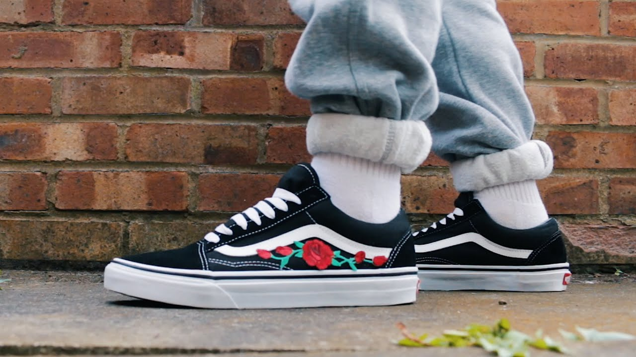patch rose rouge vans