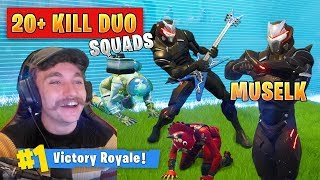 Carrying Muselk in Squad Games as Duos! - Fortnite Battle Royale