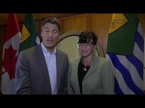 Mayor Gregor Robertson & Deputy Mayor Andrea Reimer - winners of the WorldGBC Chairman's Award