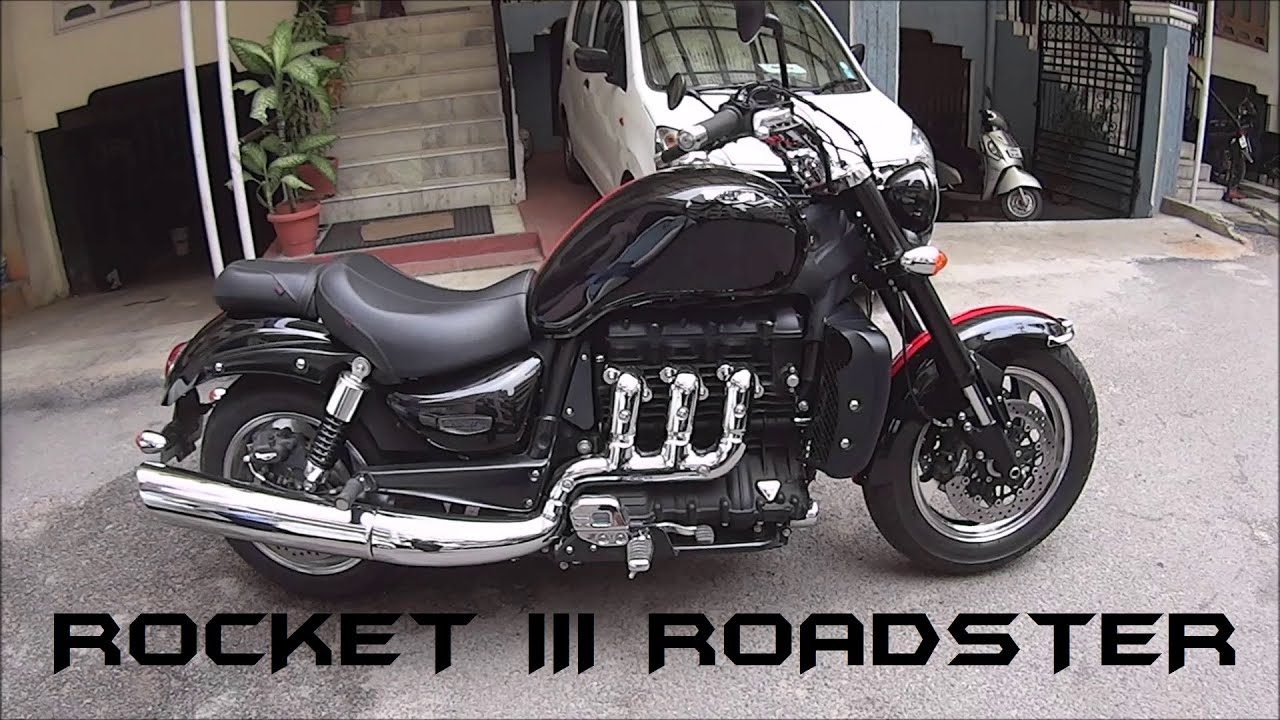 2016 triumph rocket iii roadster stock exhaust note/walkaround