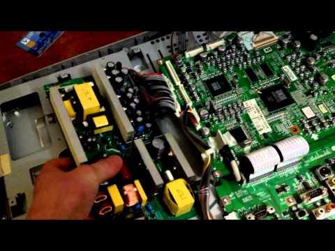 видео: ремонт телевизора lg 26lx2r