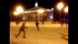 Ice rink on Lenina Square in Voronezh, 31 December 2014