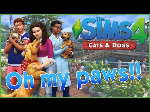 Cats! Dogs! New World! Playing as a Veternarian?! Sims 4 Pets Trailer Reaction