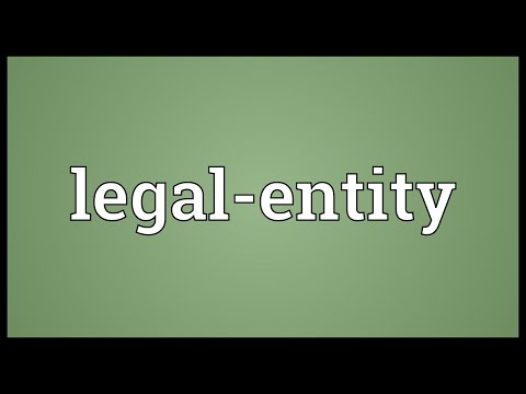 Legal-entity Meaning