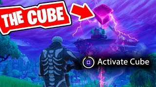 Fortnite the CUBE is ACTIVATED!!! The Cube is cracking! (Fornite Cube Event)