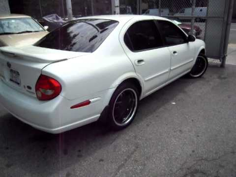 My Maxima 2000 Pearl White Black Rims Youtube