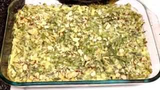 Creamy Green Bean & Almond Casserole - 2 Points Plus!