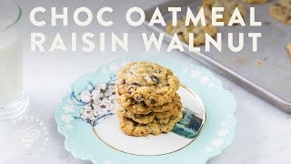 ULTIMATE Chocolate Oatmeal Raisin Walnut COOKIES - Honeysuckle