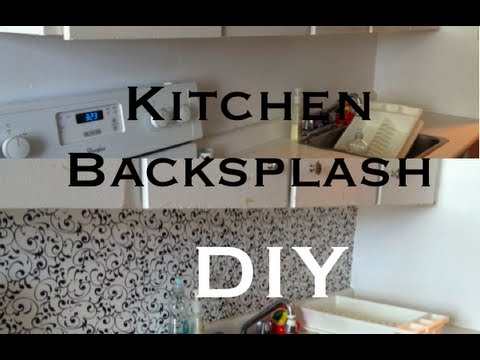 diy: kitchen backsplash ♡ theeasydiy #roomdecor - youtube