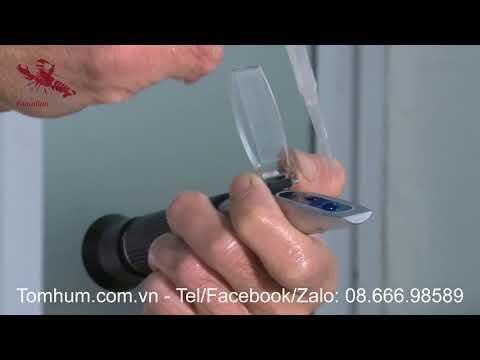 Kỹ thuật nuôi tôm hùm Canada - Đo độ mặn nước biển