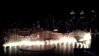 Dancing Fountains at Burj Khalifa, Dubai (Arabian Song)