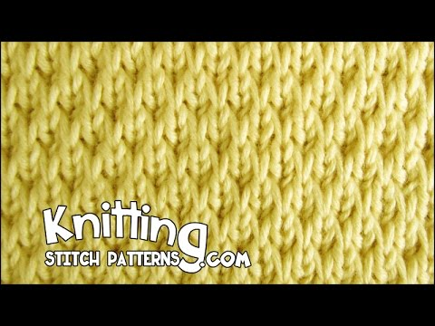 Knitting Increase In Next Stitch Purlwise : Long-Slip Textured - YouTube