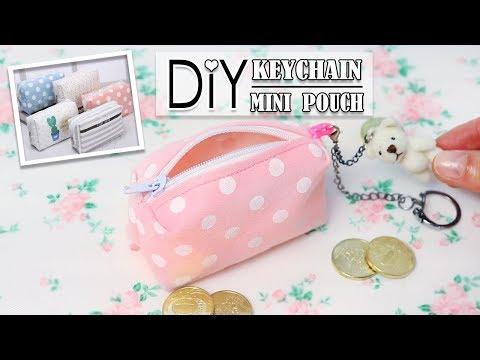 DIY SO SWEET MINI BAG TRINKET // Zipper Bag KeyChain Idea Easy