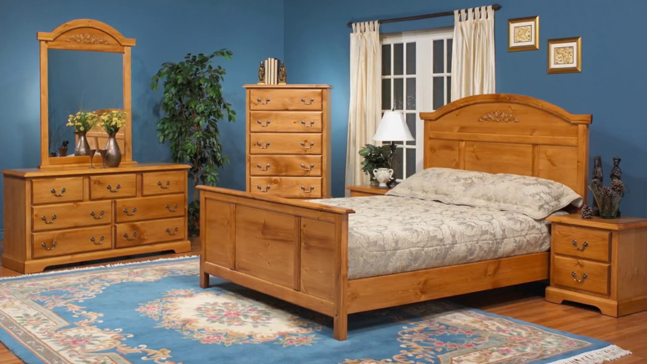 Pine Bedroom Furniture Sets for Home Designs - YouTube