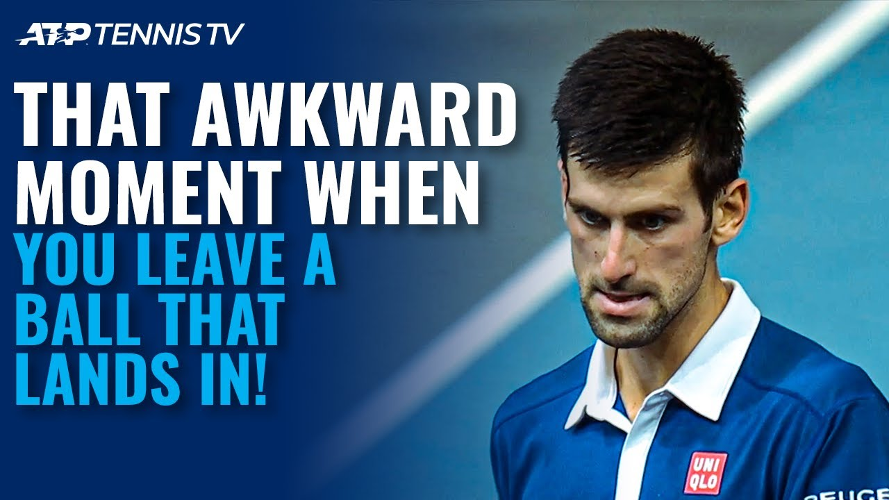 28 Times Tennis Players Awkwardly Left A Ball That Landed In! 🙈