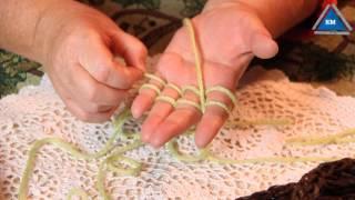 Шарф-колье Вязание на пальцах