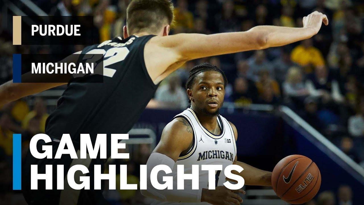 Highlights Purdue At Michigan Big Ten Basketball Youtube