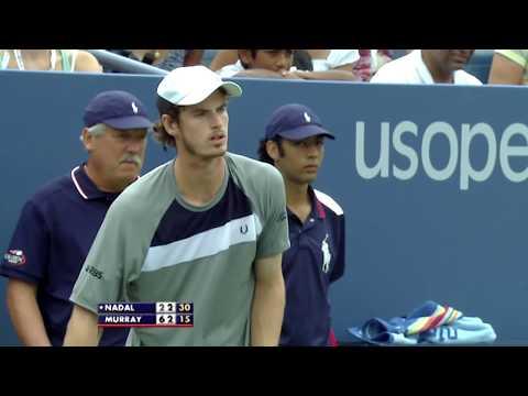 Andy Murray Vs Rafael Nadal US Open 2008 Semi Final   US Open Classics