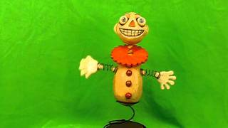 Vintage Style Halloween Ghost Clown Bobble Head