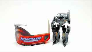 Alterations Man Transformer Toy unboxing