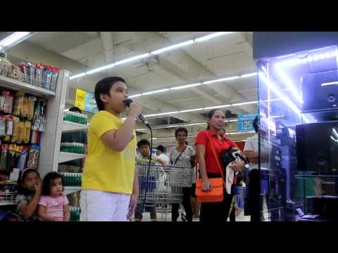AMAZING KARAOKE BOY JOHN CARLO TAN - JC SINGS ALL OF ME IN GROCERY STORE