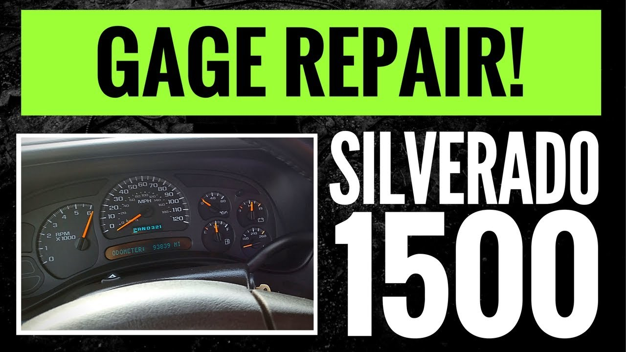 Broken Chevy Tahoe 2004 Fuse Box Trusted Wiring Diagrams 04 Silverado Instrument Panel Repair Gages Youtube Diagram