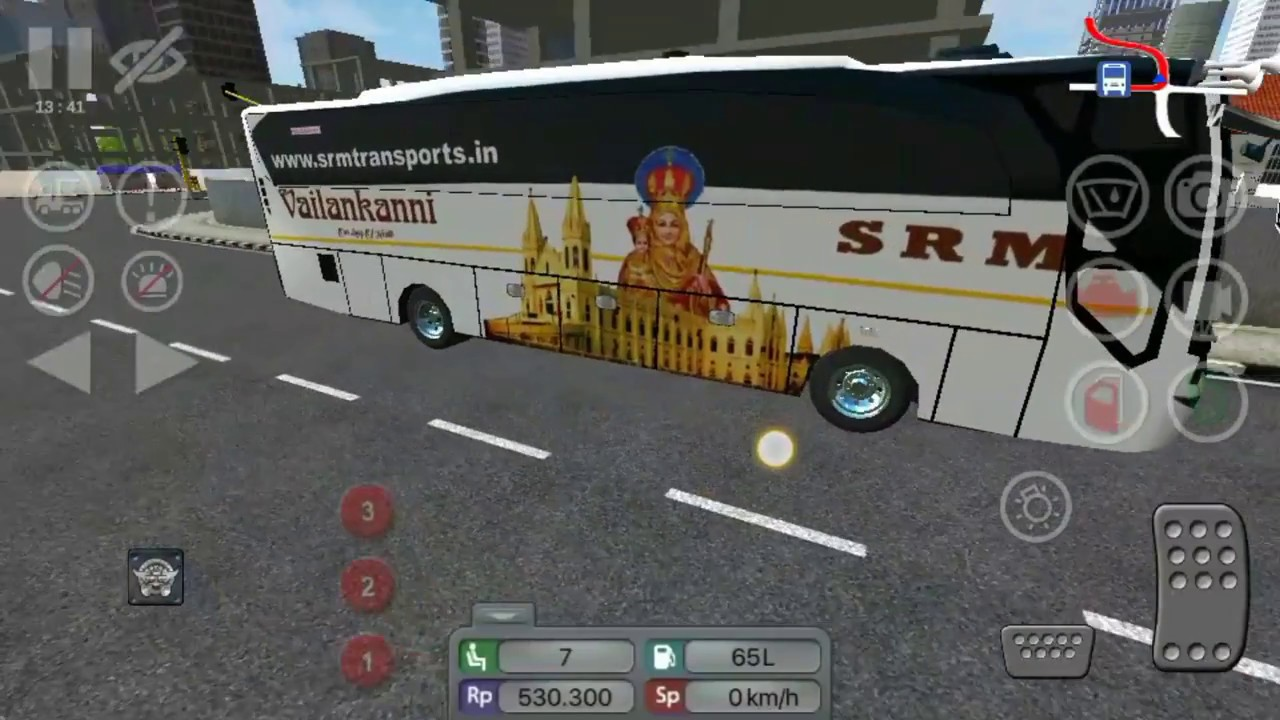 ✴️Tamilnadu SRM Vailankanni Bus in Android Game BUSSID - Indian Bus Livery  [PCR GAMEPLAY]Links⤵️