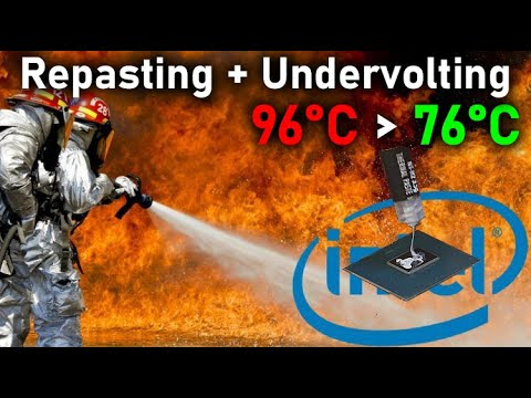 Laptop Thermal Paste Replacement + Undervolting   Repasting Laptop CPU and GPU ( Intel + nVidia )