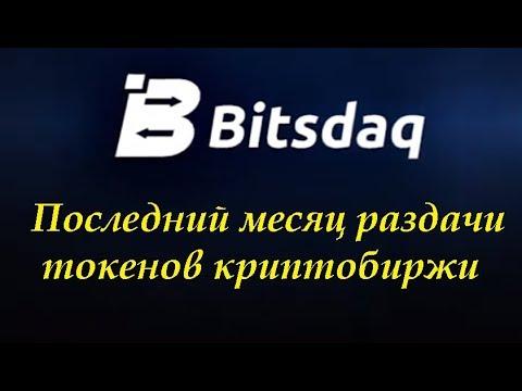 Bitsdaq Новости криптобиржи Последний месяц раздачи токенов BXBC криптобиржи Bitsdaq