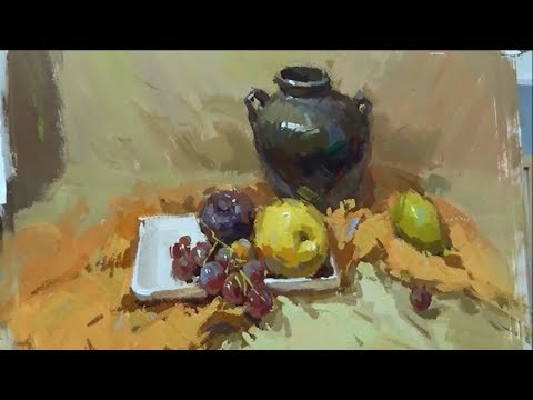 Still Life Painting in Gouache Paint 03