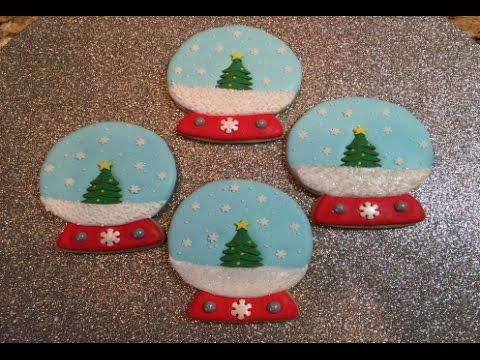Christmas Tree Snow Globe Cookies How To