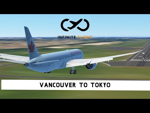 Infinite Flight Global LIVE - Transpacific in the 787 - Vancouver to Tokyo - Air Canada