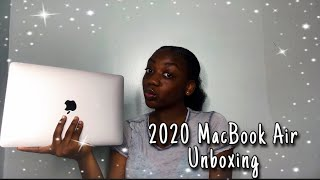 Unboxing My New 2020 MacBook Air + Accessories | Silver 13 Inch