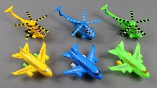 Learn Colors with Helicopter & AirPlane | Vehicles name to Learning for Kids 3 Colored Toys for kids