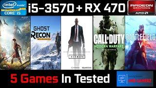 Sapphire Nitro+ RX 470 4GB   Test in 5 Games   1080P   2019