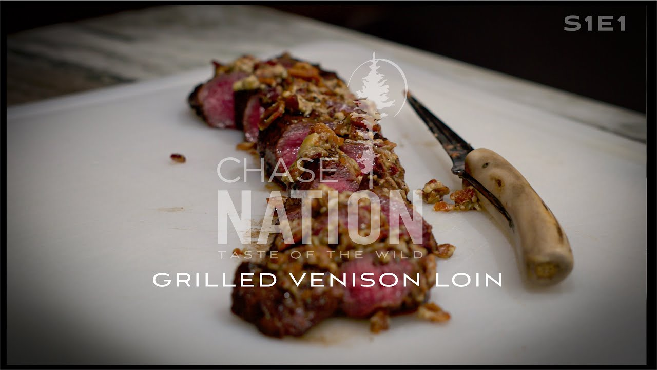 Smoked Bleu Cheese & Bacon Grilled Venison Outer Loin