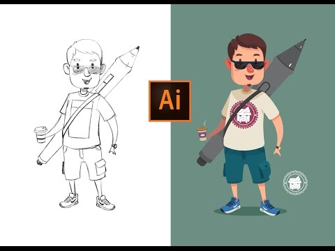Adobe Illustrator Process | Design Flat Avatar