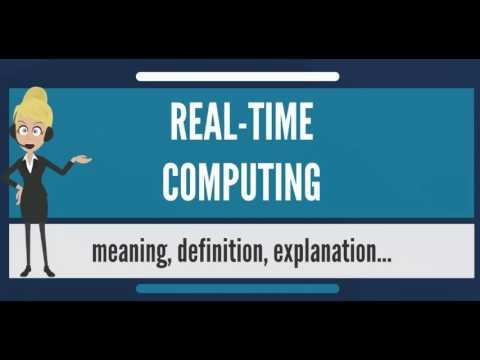 What is REAL-TIME COMPUTING? What does REAL-TIME COMPUTING mean? REAL-TIME COMPUTING meaning