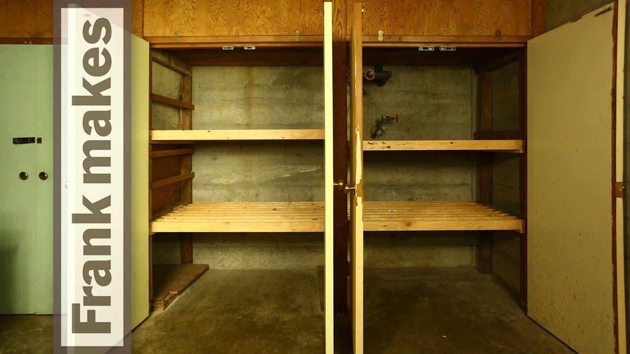 Basement Storage Shelves   YouTube
