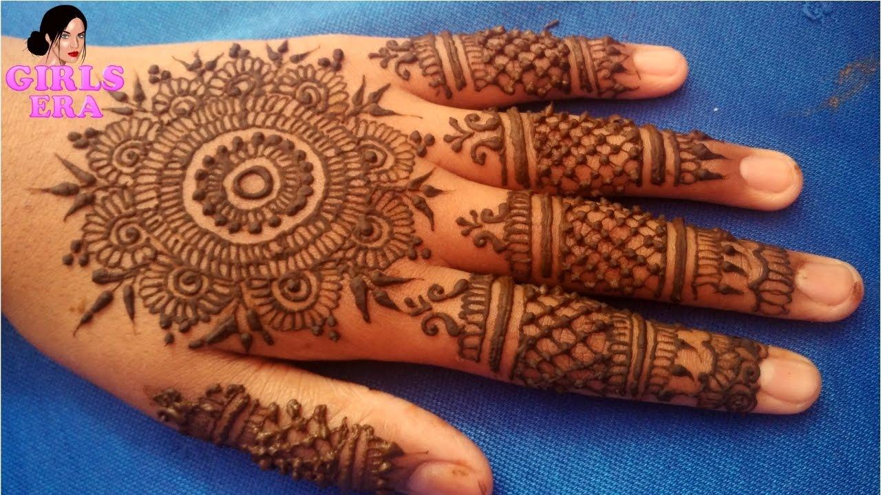 Mandala Henna Designs: How To Apply Easy Simple Mandala Mehndi Design For Back