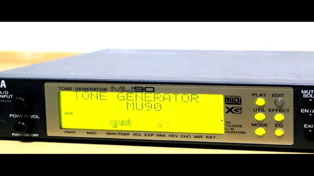 Yamaha MU90 | Sound Programming
