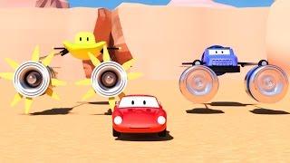 Spid si mobil balap & 2 motor mabur kayata Star Wars | Kartun kanggo anak kaya Lightning McQueen