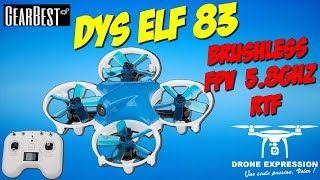DYS ELF 83 NANO RACER BRUSHLESS RACING UNBOXING REVIEW TEST FLIGHT GEARBEST QUADCOPTER DRONE FR