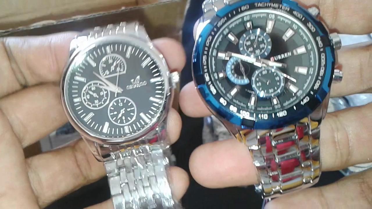 20b907a808a Lote com 5 Relógios Masculinos Pulseira de Aço Inoxidável Orlando Comprados  no Aliexpress