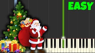 We Wish You a Merry Christmas [Easy Piano Tutorial] (Synthesia/Sheet Music)