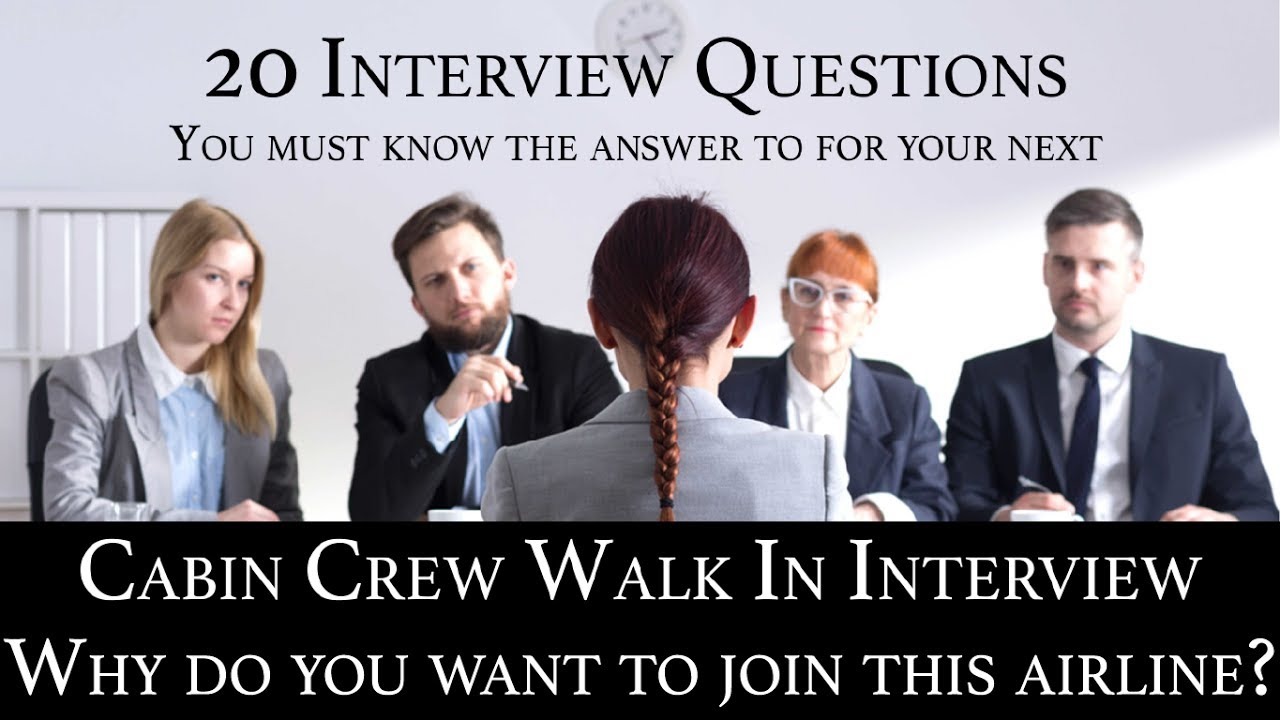 Cabin Crew Recruitment Interview Q&A #04 Why do you want to join this  airline?