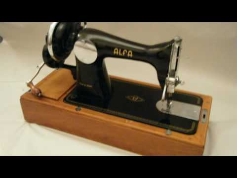 EBay Listing Vintage Antique Alfa Sewing Machine Boxed 40s Enchanting 1951 Singer Sewing Machine Ebay