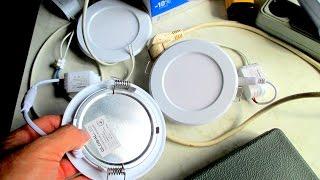 видео светодиодные светильники для натяжных потолков