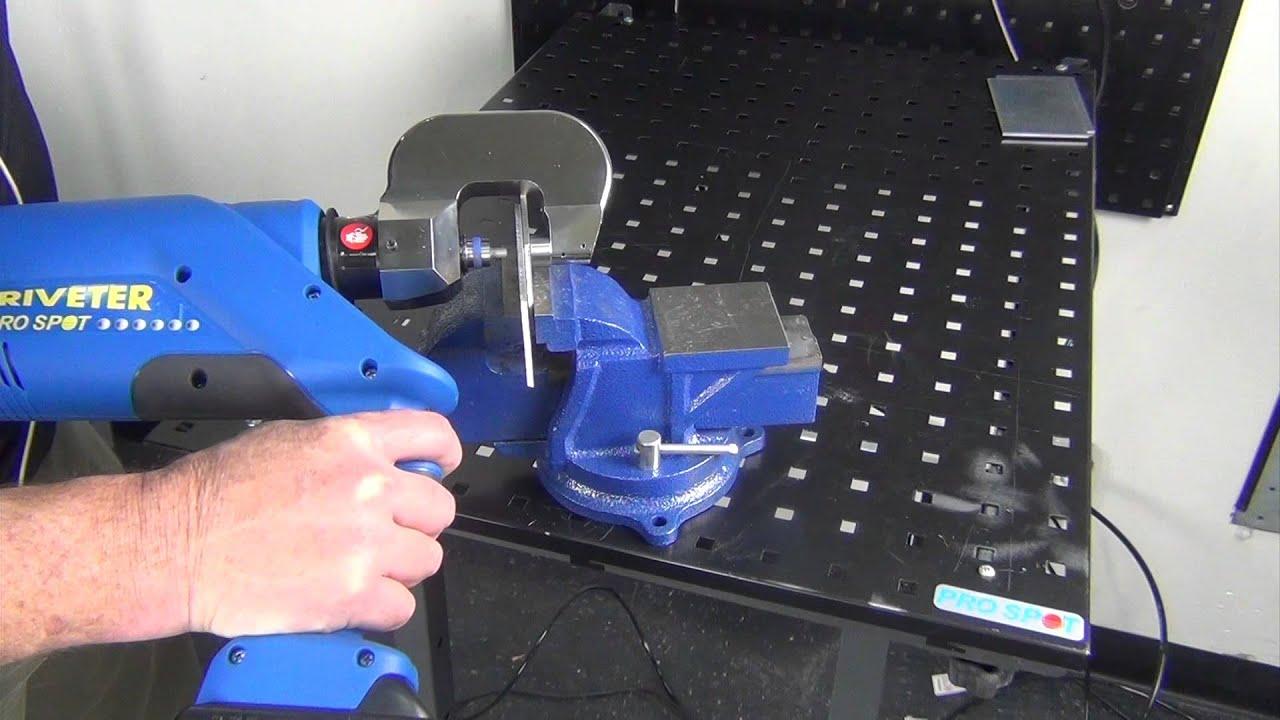 Pro Spot Pr 5 Riveter Spr Rivet Gun Demo With Pull Test