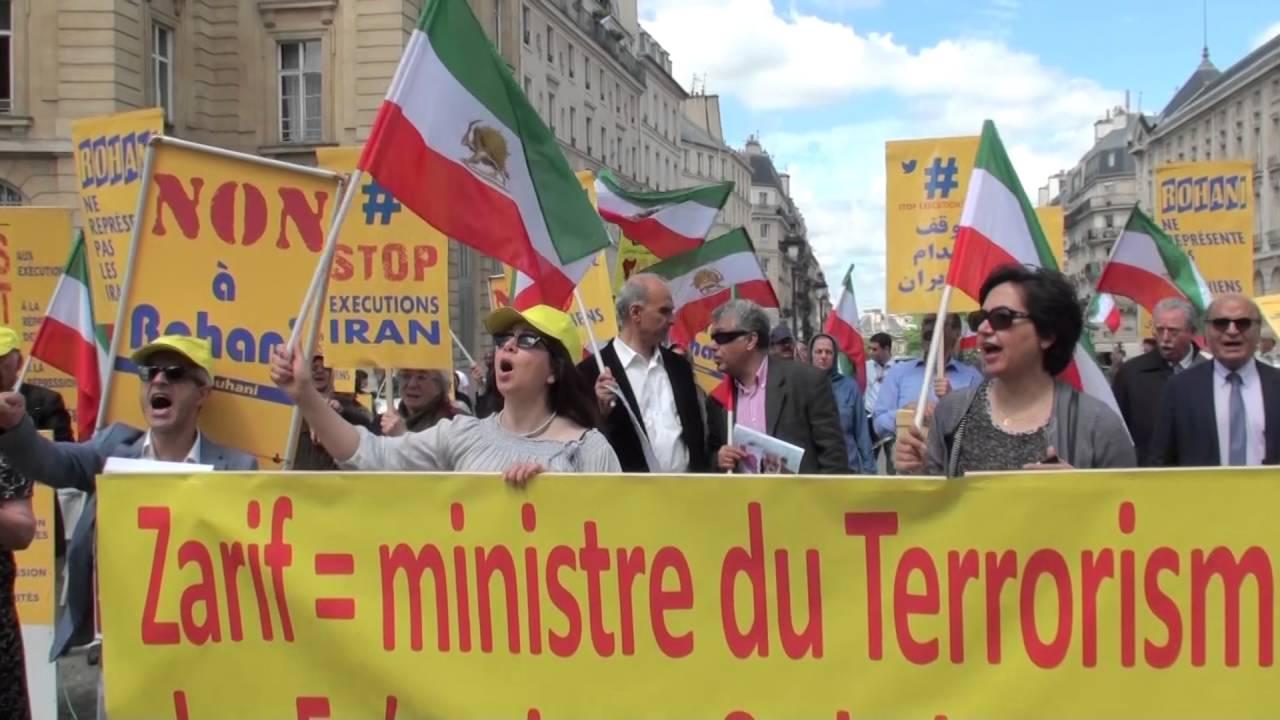 France-Iran - Des manifestants à Paris contre le visite de Javad Zarif à Paris